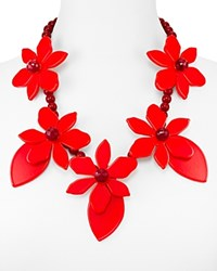 Kate Spade New York Lovely Lillies Statement Necklace 22 Coral Multi