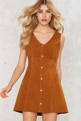 After Party Vintage Maverick Suede Dress