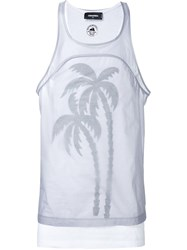 Dsquared2 Palm Tree Print Vest Grey