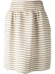 Giorgio Armani Striped Knitted Skirt