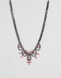 Designb London Pink Statement Necklace Pink