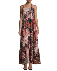 Elizabeth And James Izzie Floral Silk Maxi Dress Multicolor