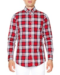 Dsquared2 Multi Plaid Long Sleeve Shirt Red Red Plaid