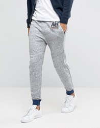 Abercrombie And Fitch Cuffed Joggers Retro Side Stripe In Grey Grey