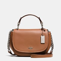Coach Nomad Top Handle Crossbody In Glovetanned Leather Silver Saddle