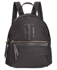 Tommy Hilfiger Tessa Solid Nylon Small Backpack Black