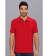 S S Solid Polo With Tape Nautical Red Men's Short Sleeve Pullover