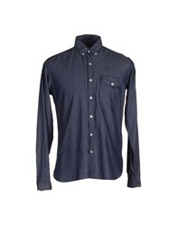 Oliver Spencer Shirts Shirts Men Dark Blue