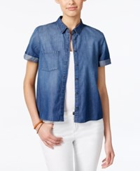 Calvin Klein Jeans Short Sleeve Denim Shirt True Blue