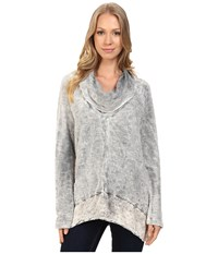 Xcvi Bibiana Top Distressed Wash Sandstone Women's Clothing White