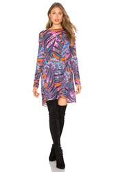 Mara Hoffman Herbarium Long Sleeve Swing Dress Purple