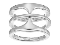 Vince Camuto Basic T Ring Light Rhodium Ring Silver