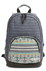 Volcom 'Schoolyard' Canvas Backpack Blue Dark Navy