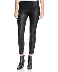 Pam And Gela Coated Sateen Snakeskin Pants Black