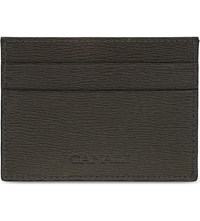 Canali Saffiano Leather Card Holder Brown