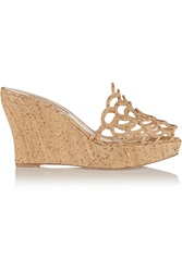 Oscar De La Renta Virma Cork Wedge Sandals