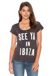Sundry See Ya Light Jersey Hi Low Tee Charcoal