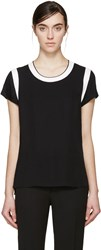 Rag And Bone Black Satin Magda T Shirt