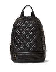 Steve Madden Quilter Faux Leather Backpack Black