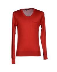 Brian Dales Knitwear Jumpers Men Red