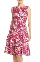 Maggy London Women's Floral Fit And Flare Dress