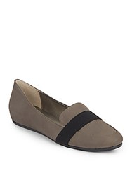 Saks Fifth Avenue Adynn Leather Flats Charcoal