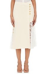 Prabal Gurung Women's Asymmetric Midi Skirt White