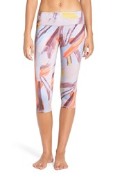 Alo Yoga Women's 'Airbrushed' Performance Capris Modernist Multi