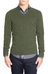 Men's Original Penguin V Neck Lambswool Sweater Sycamore