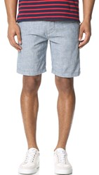 7 For All Mankind Chambray Shorts Light Chambray