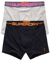 Superdry Sport Boxer Double Pack Black