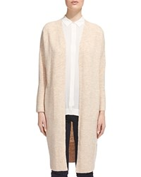 Whistles Open Front Longline Cardigan Oatmeal
