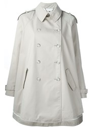 Stella Mccartney A Line Trench Coat Nude And Neutrals