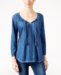 Styleandco. Style Co. Lace Trim Peasant Top Only At Macy's Ink