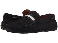 Bally Pearce Navy Suede Men's Shoes Blue