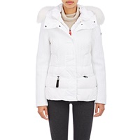 Post Card Fur Trimmed Alake Jacket Bianco White