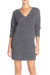 French Connection 'Naughty Brights' Cotton Sweater Dress Gray