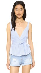 Free People Benji Halter Top Blue