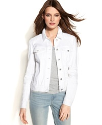 Two By Vince Camuto Long Sleeve Denim Jacket White Wash