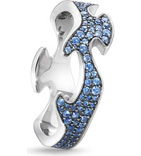 Georg Jensen Fusion 18Ct White Gold And Blue Sapphire Ring