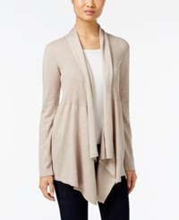 Styleandco. Style Co. Ribbed Open Front Cardigan Only At Macy's Hammock Heather