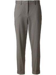 Theory Tailored Cropped Trousers Grey