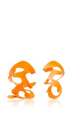 Rosie Assoulin Roxanne For Neon Orange Large Sculptural Earrings