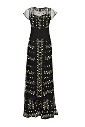 French Connection Springfield Flower Maxi Dress Black