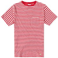 Armor Lux 71197 Stripe Pocket Tee Red