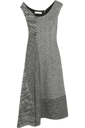 Stella Mccartney Jackie Asymmetric Paneled Wool Tweed Dress