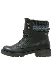 Refresh Laceup Boots Black