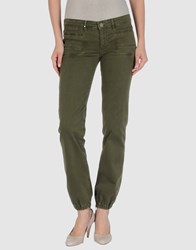 Annarita N. Denim Denim Trousers Women Military Green