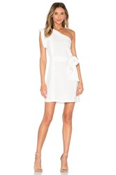 Pfeiffer Echo One Shoulder Dress White