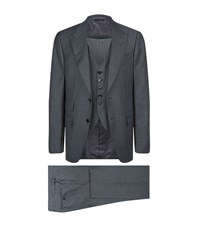 Tom Ford Windsor Interwoven Three Piece Suit Male Light Grey